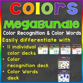 color recognition color words megabundle