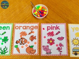 color sorting posters beads