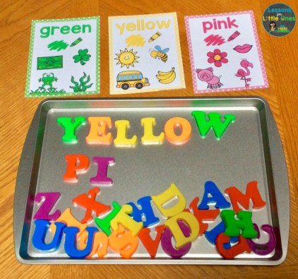 color words magnetic letters