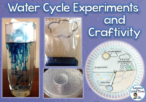 water cycle experiments & craft