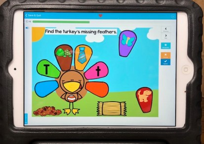 Thanksgiving beginning sound Boom Cards