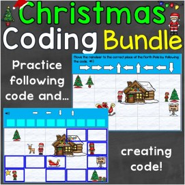 Coding Practice Bundle Christmas Computer Code for Beginners
