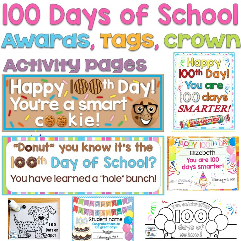 image relating to 100 Days Smarter Printable titled 100th Working day of Faculty Programs Snacks - Classes for Minor Types