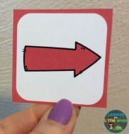 coding activity for The Mitten directional arrow
