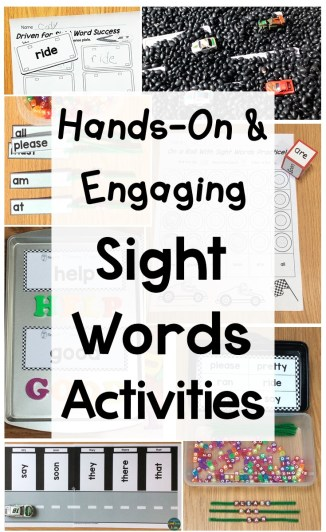 Hands-on & engaging sight words activities