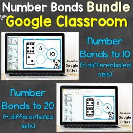 number bonds for google classroom bundle