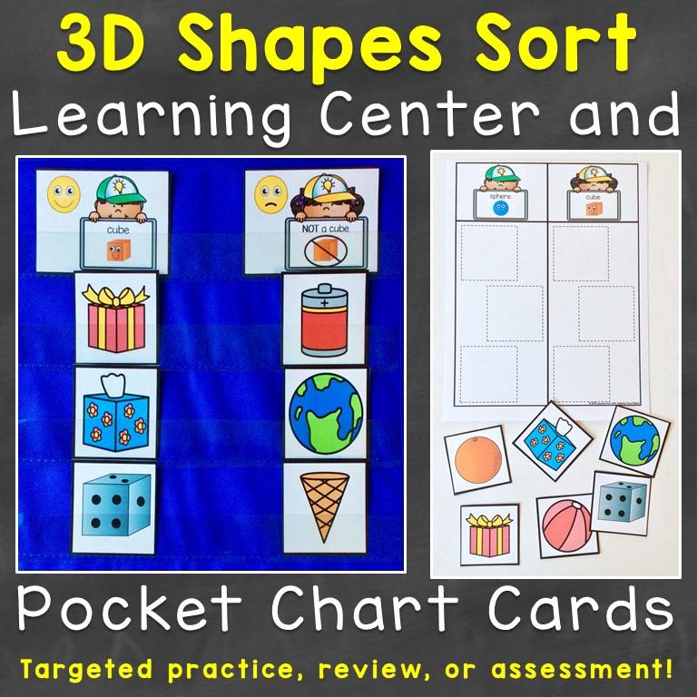 3D shape sort cards