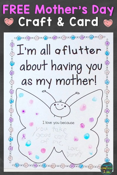 Free Mother's Day Craft Card