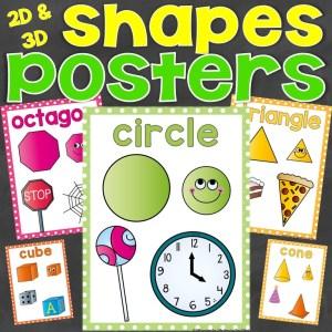 shapes posters 2D 3D