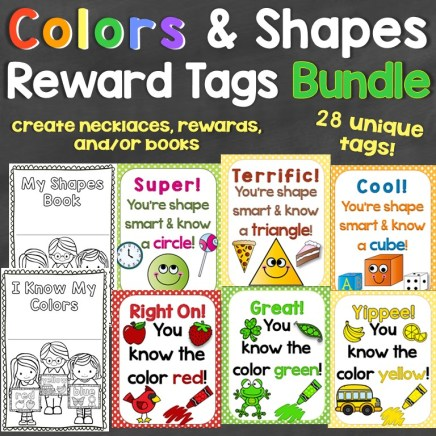 colors shapes reward tags bundle
