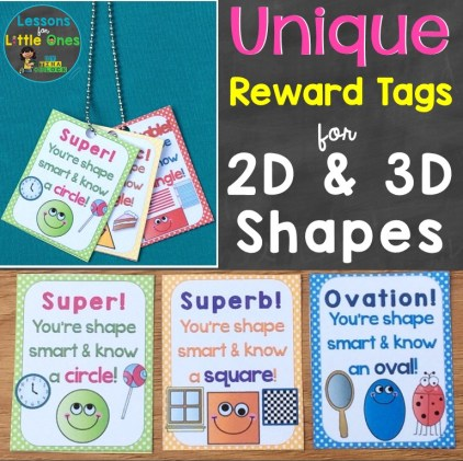 Reward Tags for 2D shapes, 3D shapes