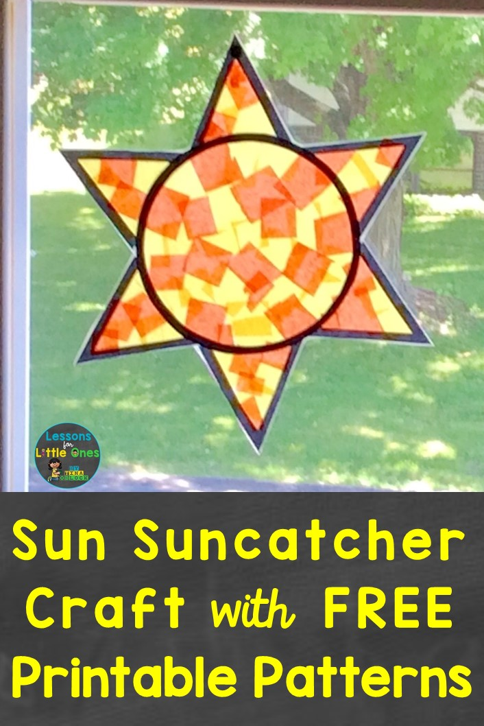 photo regarding Free Printable Patterns named Sunshine Suncatcher Craft No cost Habits - Classes for Very little