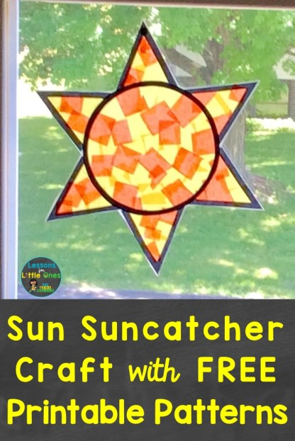 Sun Suncatcher Craft with Free Printable Patterns