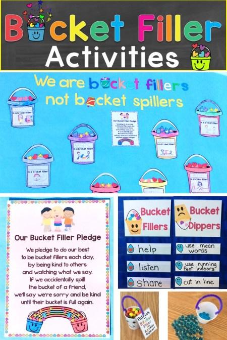 Bucket Filler Activities, Bulletin Board Idea, & Awards, Treats