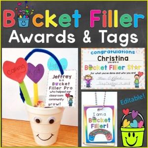 Bucket Filler Awards Reward Tags