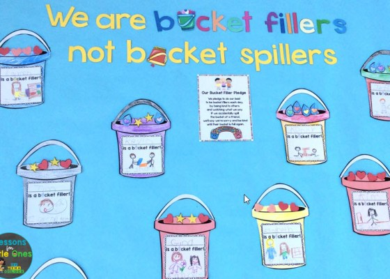 bucket filler bulletin board