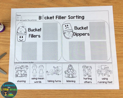 bucket fillers printable page