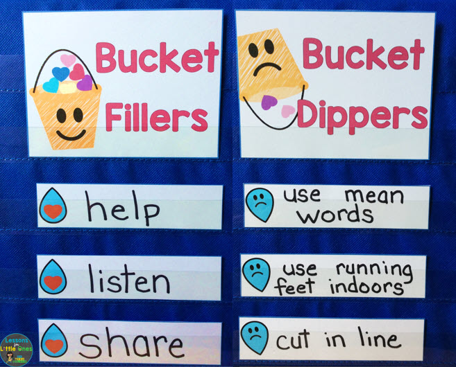 bucket filling pocket chart sorting activity