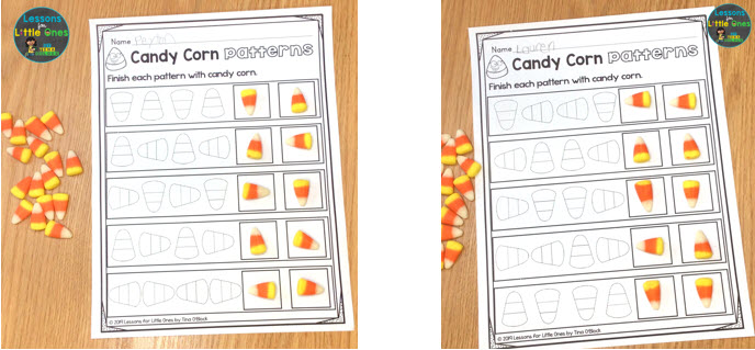 candy corn math patterns