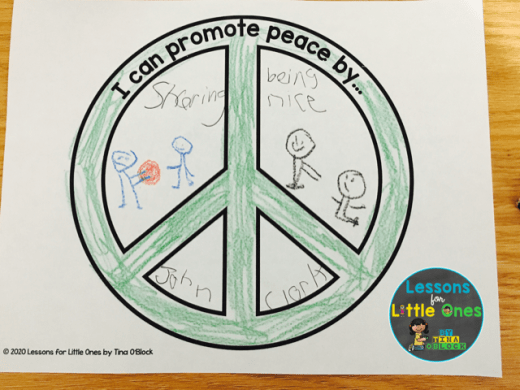 Martin Luther King Jr. peace activity page