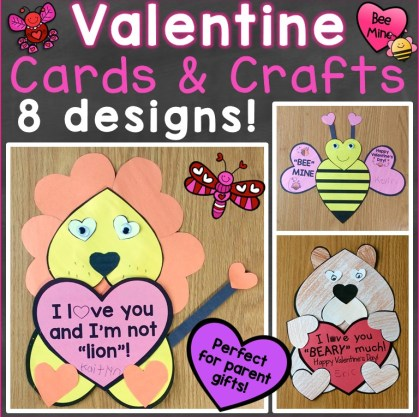 Valentine's Day Cards for Parents, Valentine Crafts