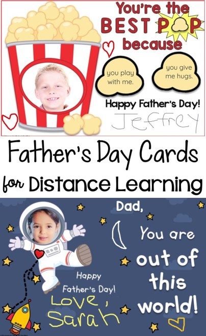Father's Day Cards for Distance Learning