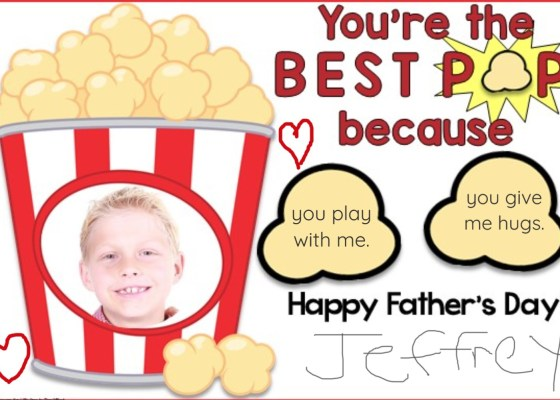 Father's Day Card for digital distance learning