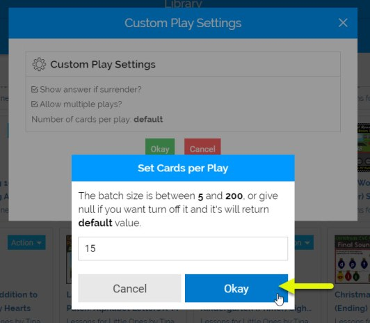 Boom cards changing the number of cards per play