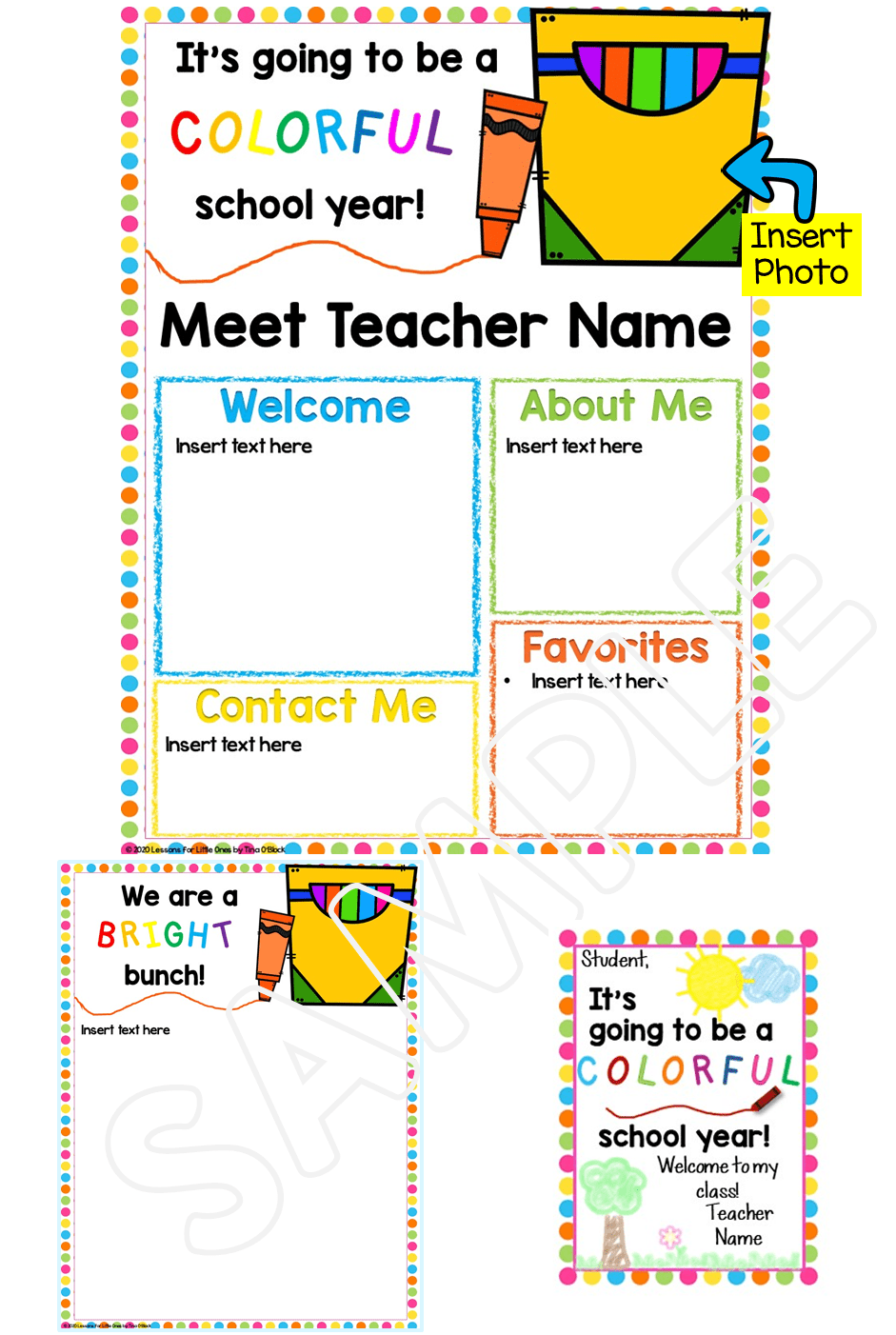Meet the Teacher Editable Template Crayon