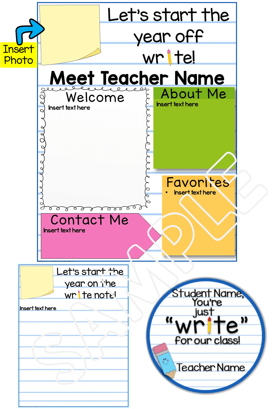 Meet the Teacher Editable Template Back to School