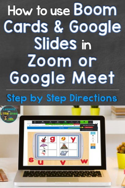 How to Use Boom Cards & Google Slides in Zoom or Google Meet