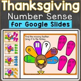 Thanksgiving Number Sense Digital Google Classroom