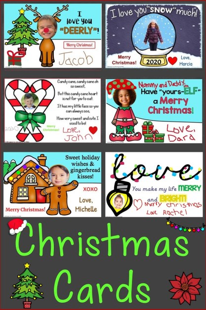 Christmas cards for parents student photo