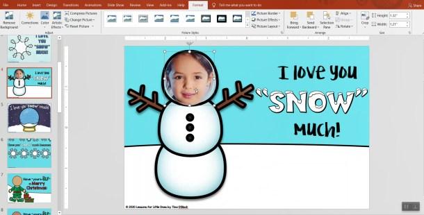digital Christmas Card for parents
