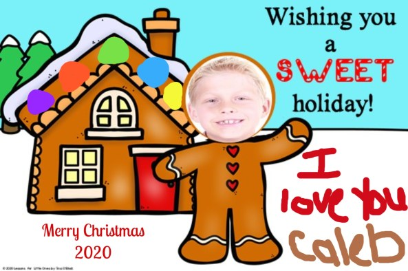 holiday card for parents from student