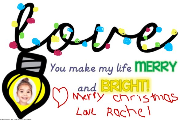 Christmas card for parents Christmas lights