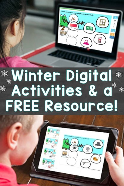 Winter Digital Activities and a Free Resource