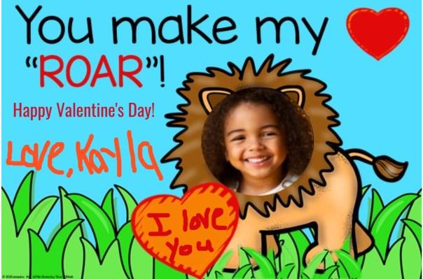 digital Valentine's Day card