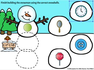 winter digital skill practice with movable pieces