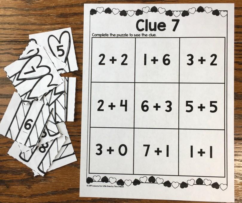 escape room clue math addition