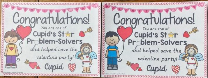 valentine escape room certificate