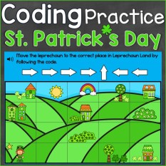 St. Patrick's Day Coding Practice Following Code