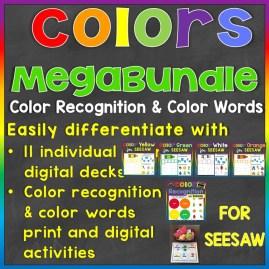 Colors Color Words Print & Digital Seesaw Activity Mega Bundle