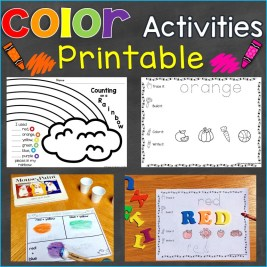 Colors and Color Words Printable Pages