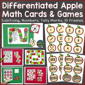 numbers to 20 number sense apple cards & games