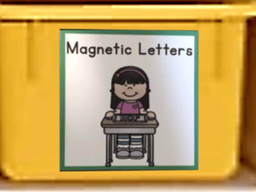 center organization kindergarten classroom