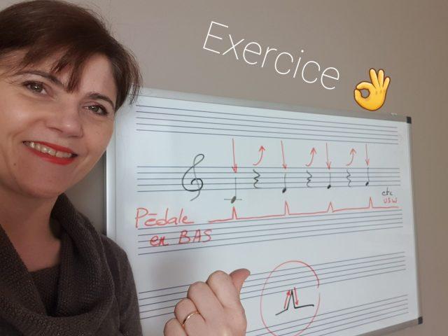 Exercice préliminaire pour jouer du piano avec pédale