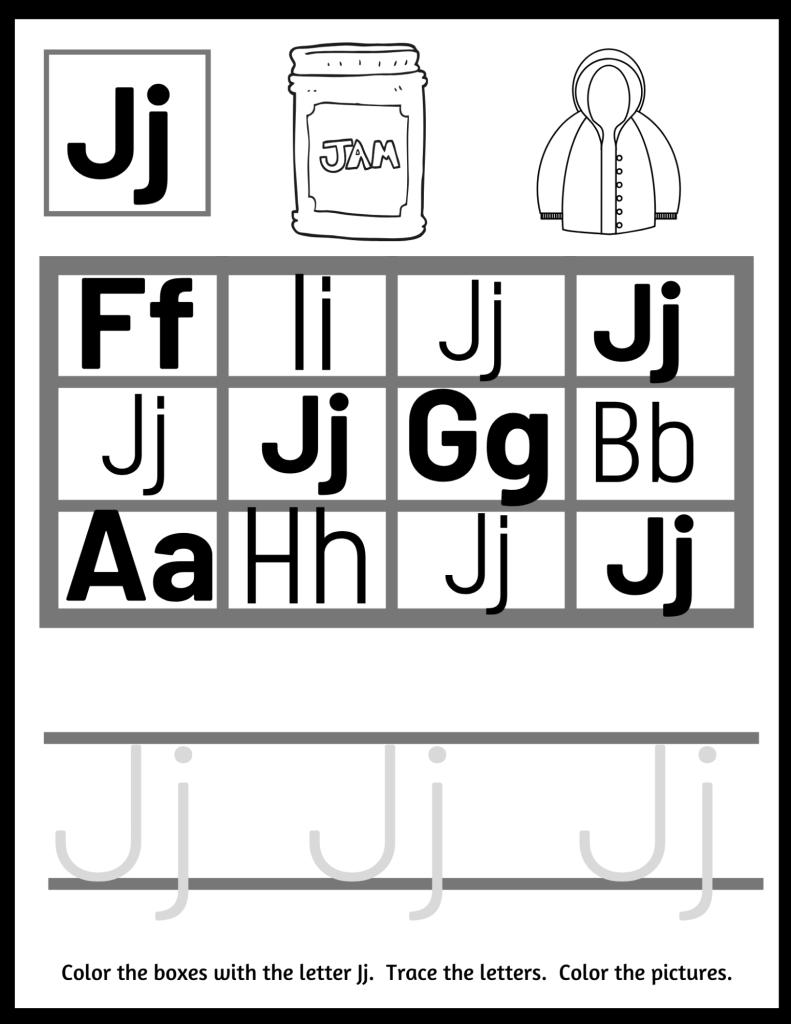 letter J preschool worksheets