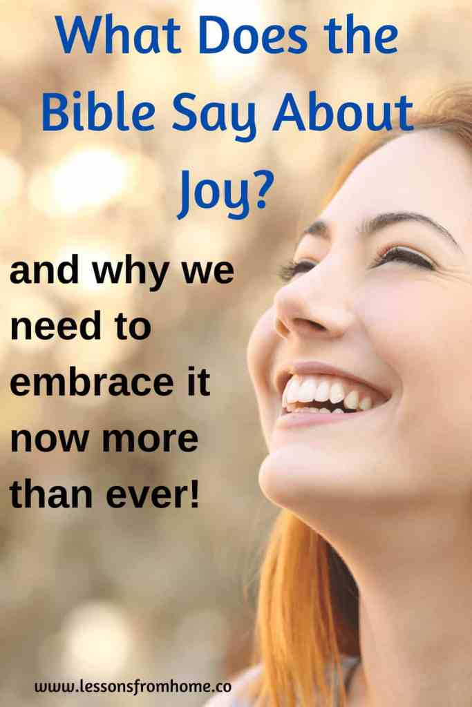 what does the Bible say about joy