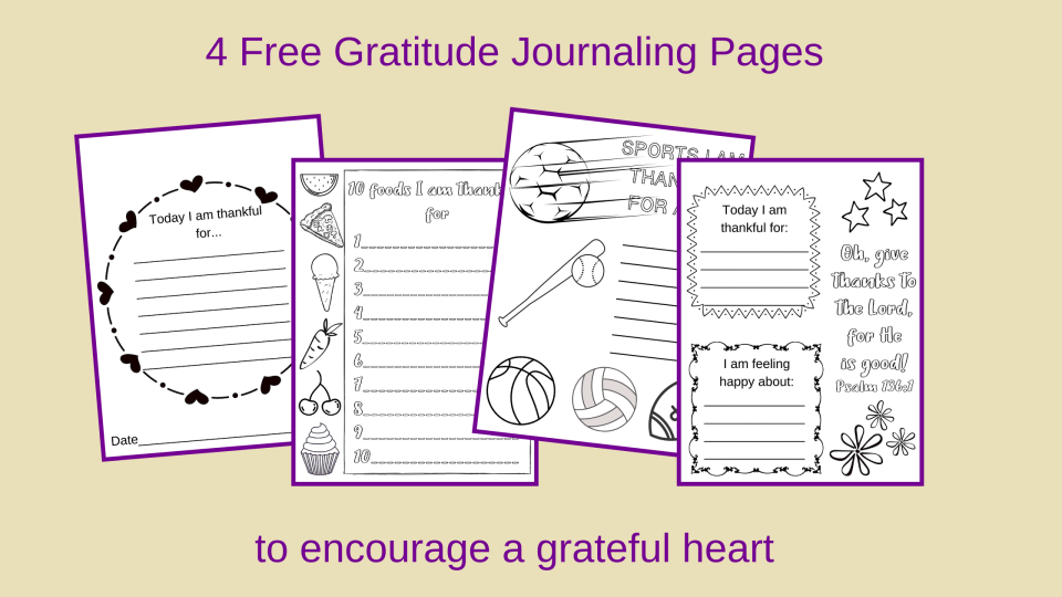 gratitude journaling pages